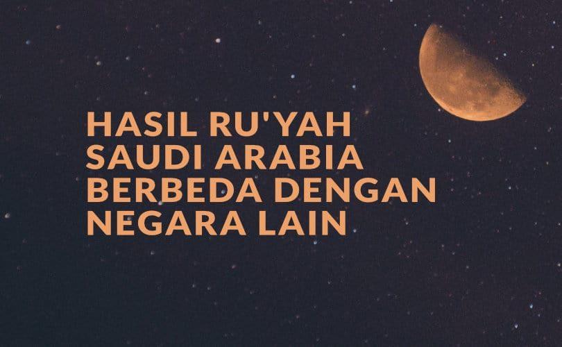 Fatwa Ramadhan: Hasil Ru'yah Saudi Arabia Berbeda dengan Negara Lain