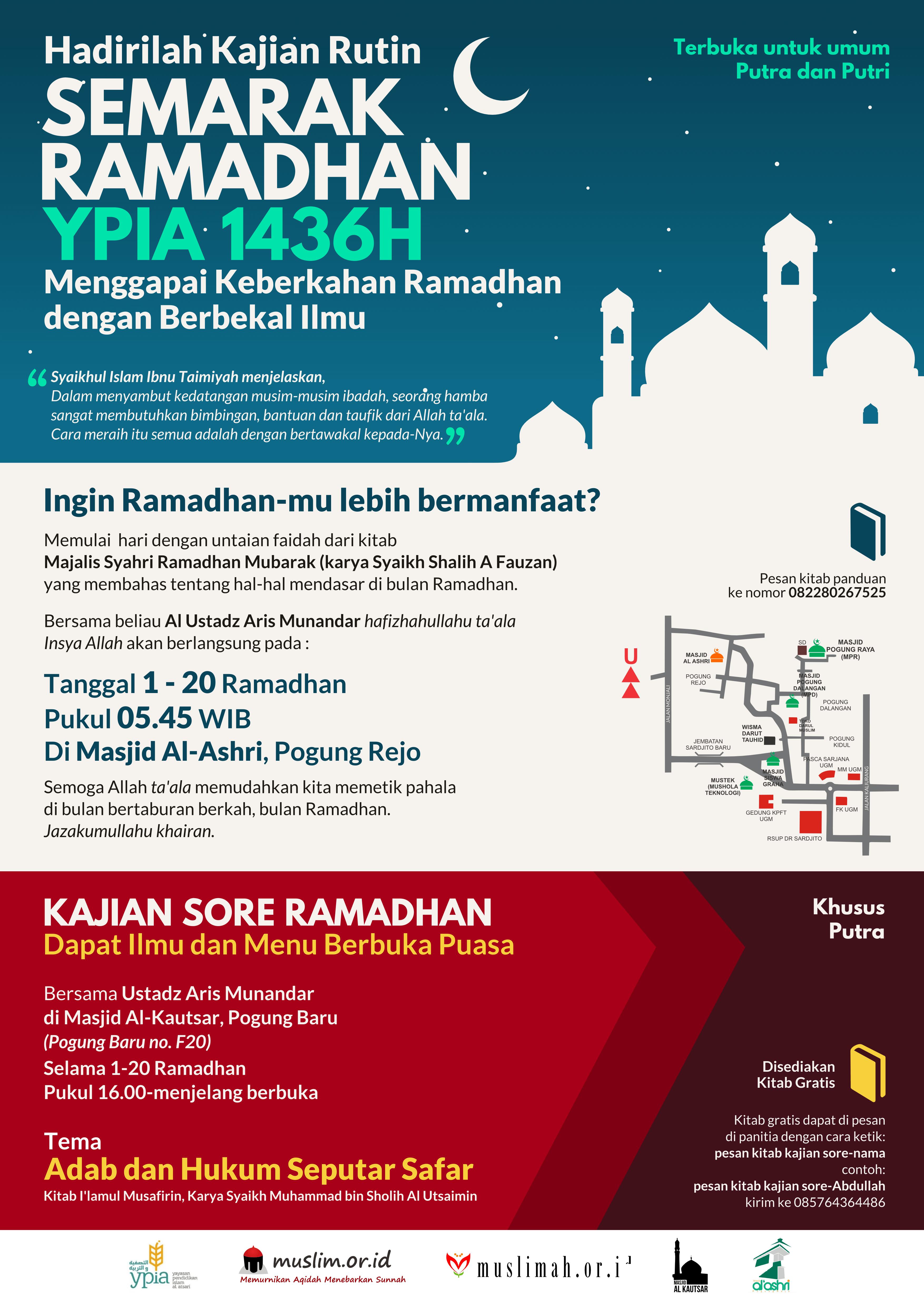 19 Kajian Rutin Semarak Ramadhan YPIA Yogyakarta, 20 20 Ramadhan 20436H