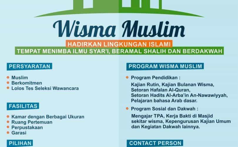 Penerimaan Penghuni Baru Wisma Muslim Yogyakarta 2015/2016 M