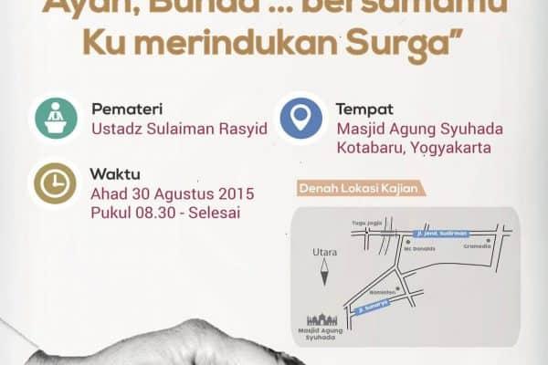 Kajian Rutin Pelajar #17 (Yogyakarta, 30 Agustus 2015)