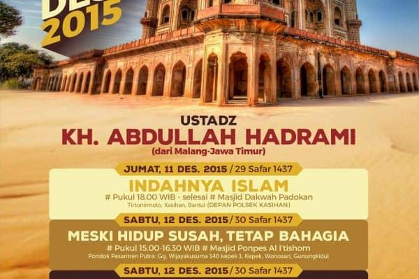 Safari Dakwah Bersama KH. Abdullah Hadrami (Yogyakarta, 11-13 Desember 2015)
