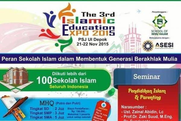 Islamic Education Expo ke 3 (Jakarta, 10-11 Shafar 1437)