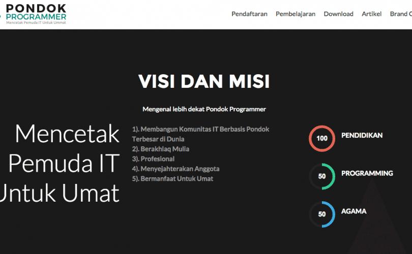 Penerimaan Santri Baru Pondok Programmer Yogyakarta, 100% Gratis