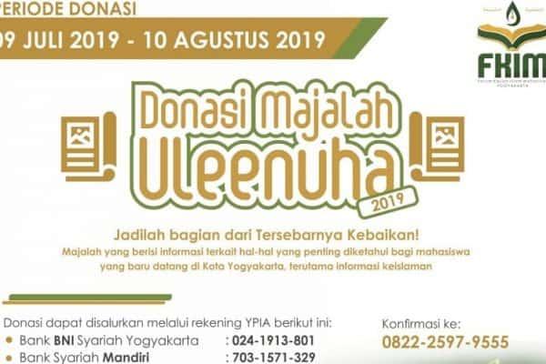 DONASI MAJALAH ULEENUHA (Edisi 2019)