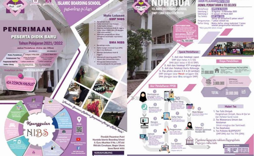 Pendaftaran Santri Baru SMP-SMA Nuraida Islamic Boarding School