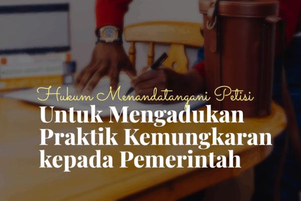Hukum Menandatangani Petisi