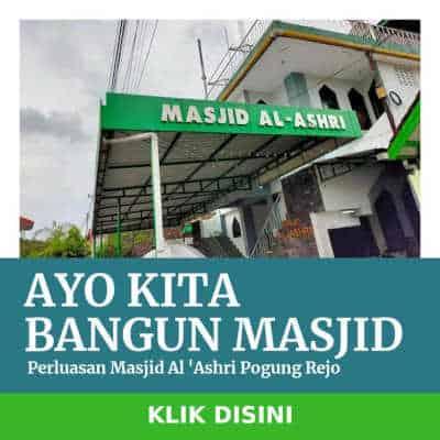 donasi pembangunan perluasan masjid al ashri pogung rejo